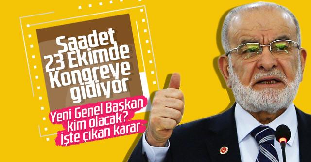 Saadet Partisi'nden Karamollaoğlu kararı