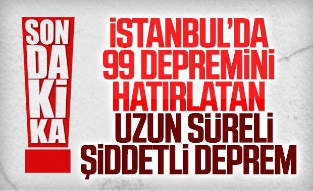İstanbul'da şiddetli deprem