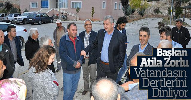 Başkan Atila Zorlu Vatandaşın Dertlerini Dinliyor