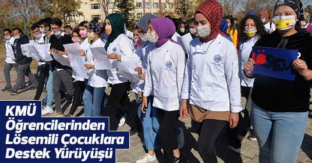 Öğrencilerinden Lösemili Çocuklara Destek Yürüyüşü