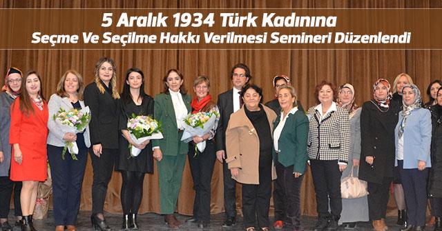 Türk Kadın Haklarını Kutlama Proğramı Düzenlendi