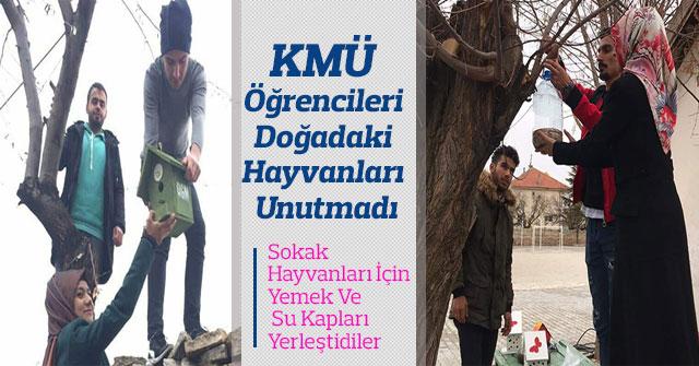 KMÜ Öğrencileri Doğadaki Hayvanları Unutmadı