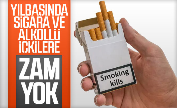 Sigara ve alkollü içkilere yılbaşı zammı yok
