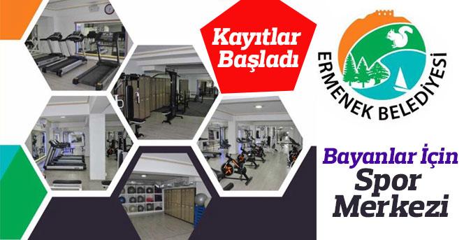 Ermenek Belediyeden Bayanlara Özel Spor Merkezi Açıldı