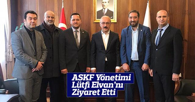 Lütfi Elvan ASKF Yönetimini Kabul Etti