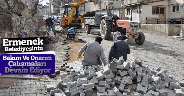 Ermenek Belediyesinin Bakım Çalısmaları Devam Ediyor