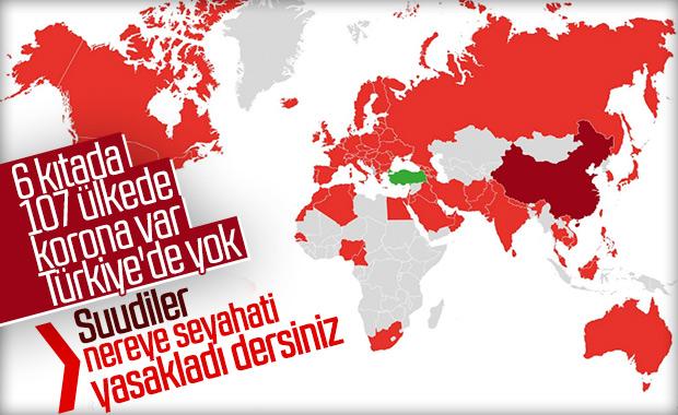 S.Arabistan'dan Türkiye'ye seyahat yasağı