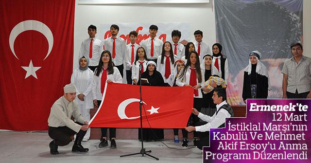 Ermenek'te Mehmet Akif Ersoy'u Anma Programı Düzenlendi