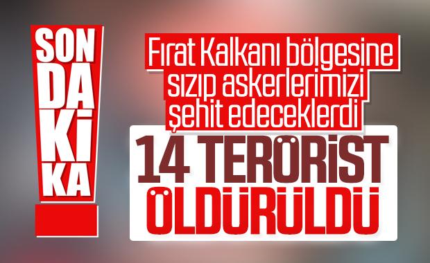 Saldırı hazırlığındaki 14 terörist öldürüldü