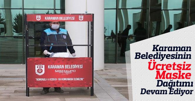 Karaman Belediyesi Ücretsiz Maske Dağıtımına Devam Ediyor