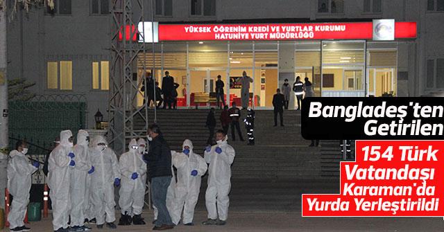 154 Türk vatandaşı yurda yerleştirildi