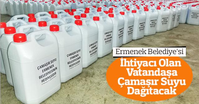 Ermenek Belediyesi Vatandaşa Çamaşır Suyu Dağıtacak