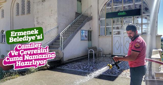 Ermenek Belediye'si Camileri Cuma Namazına Hazırlıyor
