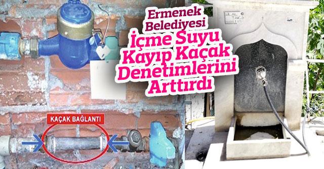 Ermenek Belediyesi İçme Suyu Kayıp Kaçak Denetimlerini Arttırdı