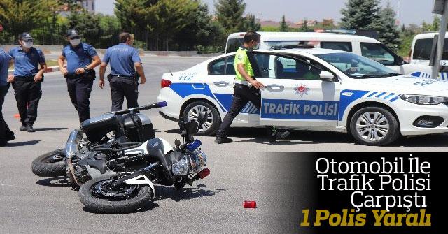 Otomobil İle Motosikletli Trafik Polisi Çarpıştı 1 Polis Yaralı