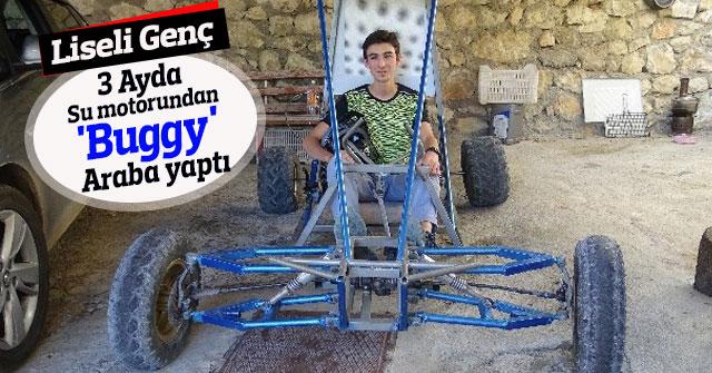 Liseli genç, su motorundan 'buggy' araba yaptı