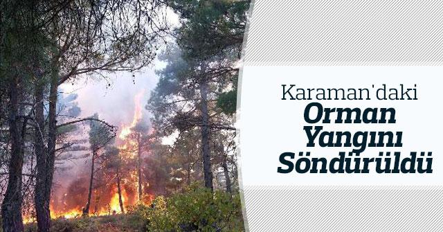 Karaman'daki orman yangını söndürüldü