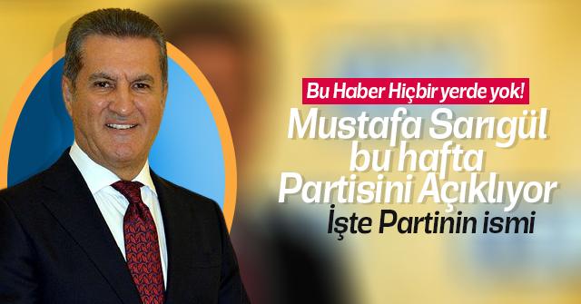 Mustafa Sarıgül Partisini açıklıyor