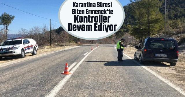 Karantina süresi biten Ermenek'te, kontroller devam ediyor