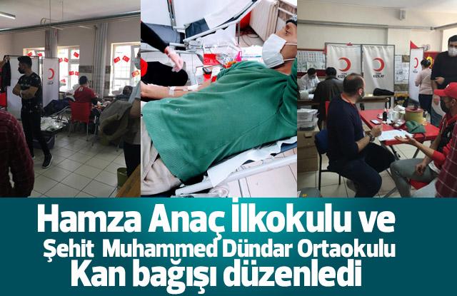 Okulların kan bağışı kampanyasına yoğun ilgi