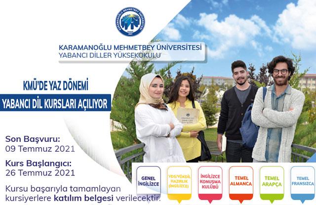 KMÜ'de Yabancı Dil Kursları Açılıyor
