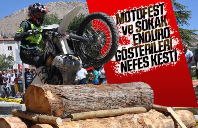 Motofest Ve Sokak Enduro Gösterileri Nefes Kesti