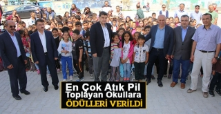 Atık Pil Toplama Yarışmasında Okullara Ödülleri Verildi